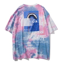 Plegie Tie Dye T-shirts Oansatz Kurzarm 2019 Sommer Baumwolle Casual Streetwear Männer T Shirt Masked Junge Mode Tops Tees
