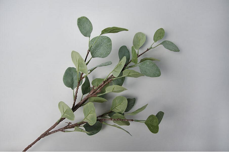 10 Uds 65cm de longitud eucalipto artificial Robusta Smith rama artesanía jarrón...