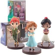 QPosket Q Posket Petit Zeichen Fantastische Zeit Aladdin Wendy Peter Pan Spielzeug Figuren PVC Action-figur Kinder Spielzeug Puppen 3 teile/satz