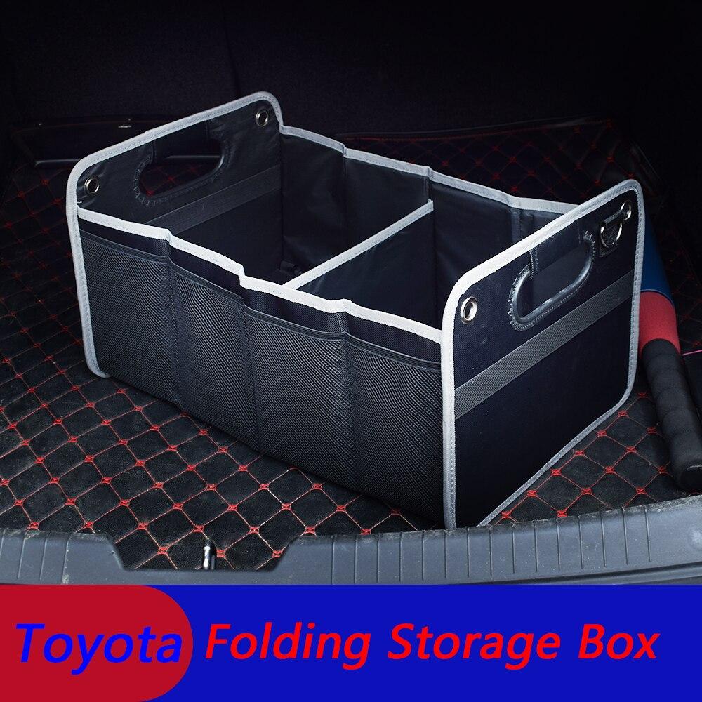 Автомобильный органайзер для багажника, складной ящик для хранения груза, сумка для Toyota Corolla Camry и Yaris Prado 70 125 150 Rav4, коробка с логотипом