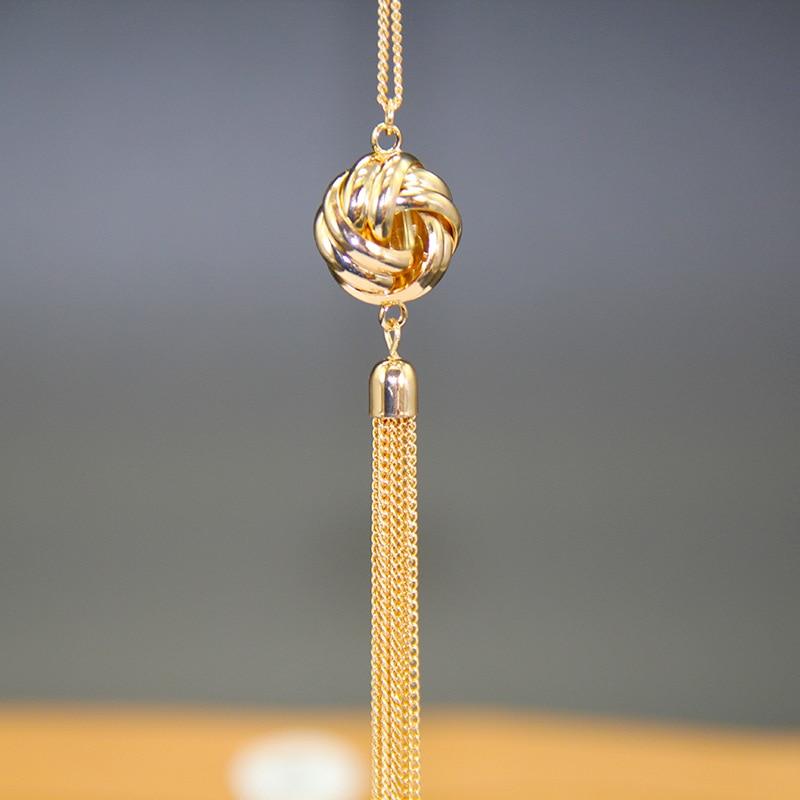 Onnea Золотистое Ожерелье для женщин и девочек, стильный свитер, цепочки, кулон, Подарочные ожерелья украшения