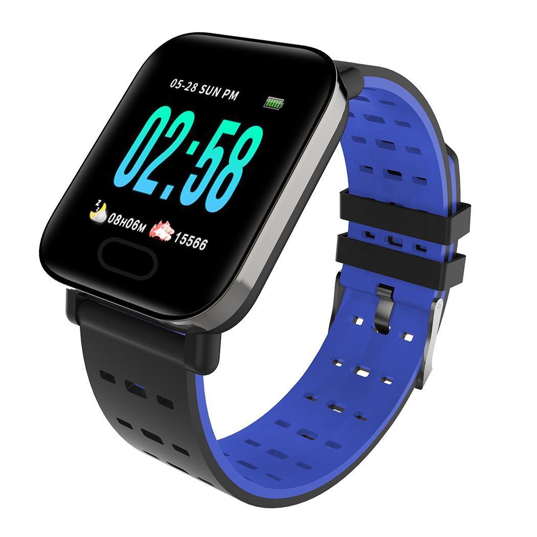Reloj inteligente con cierre de hebilla de pantalla LCD impermeable con forma cuadrada informal Unisex IP67 Manual de usuario 180 mAh