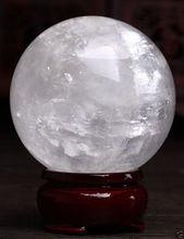 Sphère magique de guérison 60-100mm   Bijou blanc naturel, Calcite de Quartz, sphère de cristal, pierre de gemme de guérison, décoration magique, cadeau fin