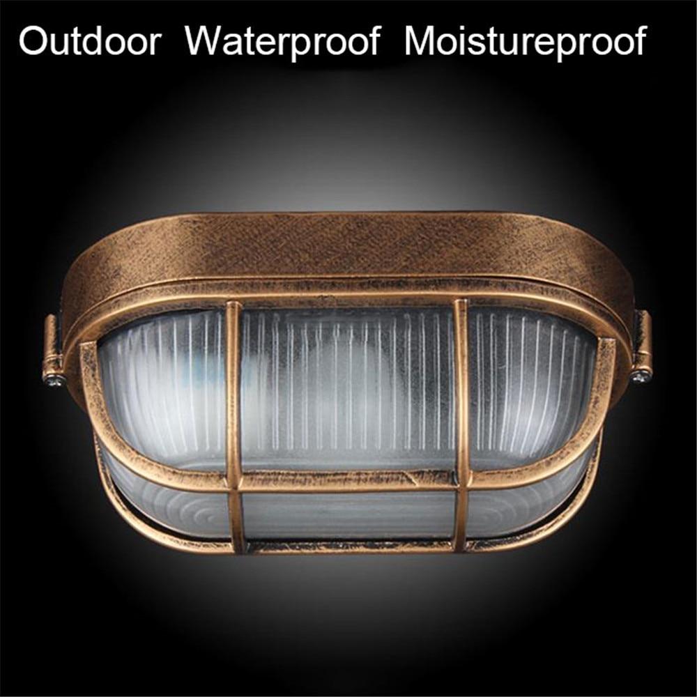 مصباح حائط خارجي مقاوم للانفجار ، مقاوم للماء ، تصميم رجعي ، مثالي للشرفة أو الجدار ، E27