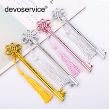3 Pcs/lot chinois noeud clés conception Gel stylo ensemble Kawaii papeterie stylos matière plastique Escolar bureau fournitures scolaires papeterie
