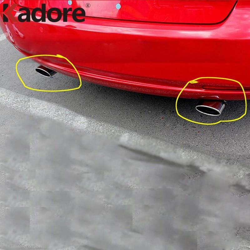 Для Mazda 6 M6 2003-2006 2007 2008 2009 2010 2011, автомобильный глушитель, наконечник из нержавеющей стали, Задняя отделка, внешние аксессуары
