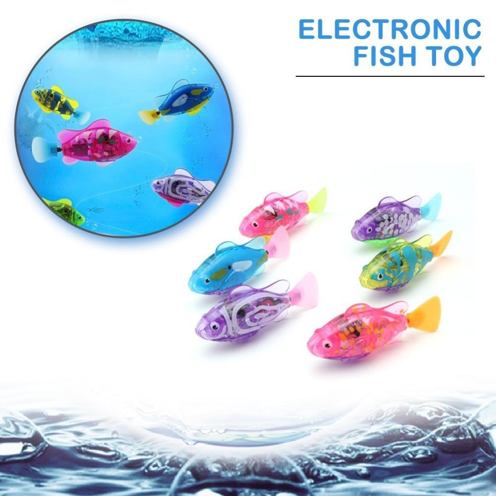 Funny Swim Electronic Fish Toy Activated Battery Powered Pet For Fishing Tank Decorating Fish