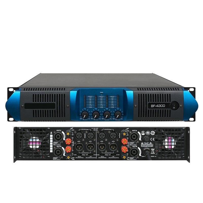 AMPLIFICADOR DE POTENCIA DE amplificador de potencia por etapas profesional después de etapa puro amplificador de potencia BF 300-800W 2U cuatro canales
