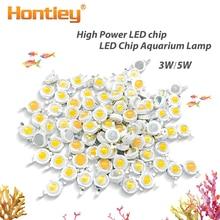 Yüksek güç LED Akvaryum lamba Matris 380Nm-840Nm 3 W 5 W Tam Spektrum Beyaz Sucul Bitki Büyümek Blub yosun Su mercan