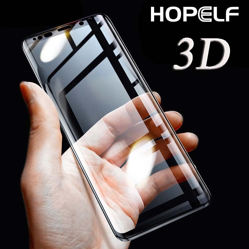 Protector de pantalla curvado 3D para Samsung Galaxy S8 Plus, Protector de pantalla de vidrio Protector para Samsung S9 Plus S7 Edge Note 8 Glass