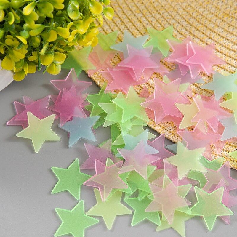 10 шт. 3D звезды Светящиеся в темноте светящиеся флуоресцентные Пластиковые Настенные стикеры домашний декор Настенные обои декоративные специальные праздники