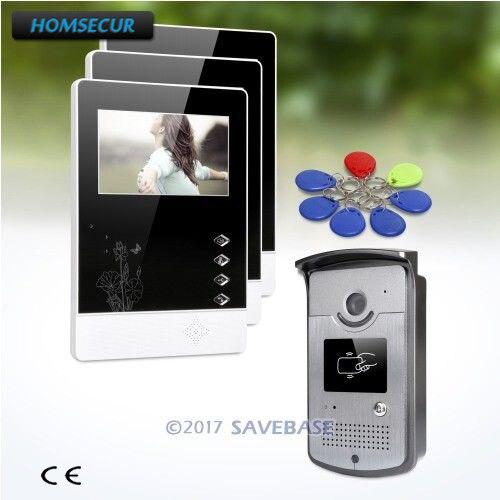 HOMSECUR 1V3 4,3 pulgadas TFT LCD 4,3 pulgadas entrada de vídeo sistema de llamadas telefónicas con Interaccion de Audio Intra-monitor para apartamento