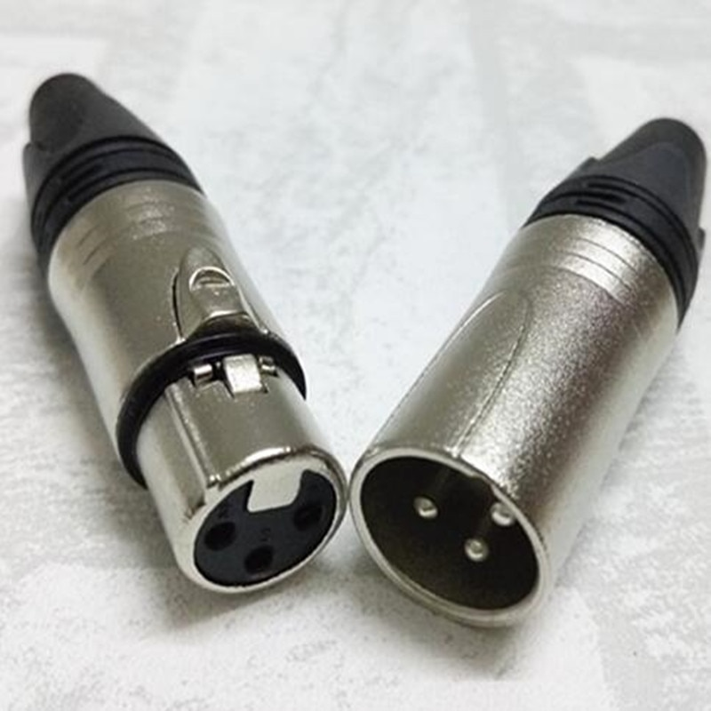Conector de Cable de Audio XLR de 3 pines Chapado en níquel,...