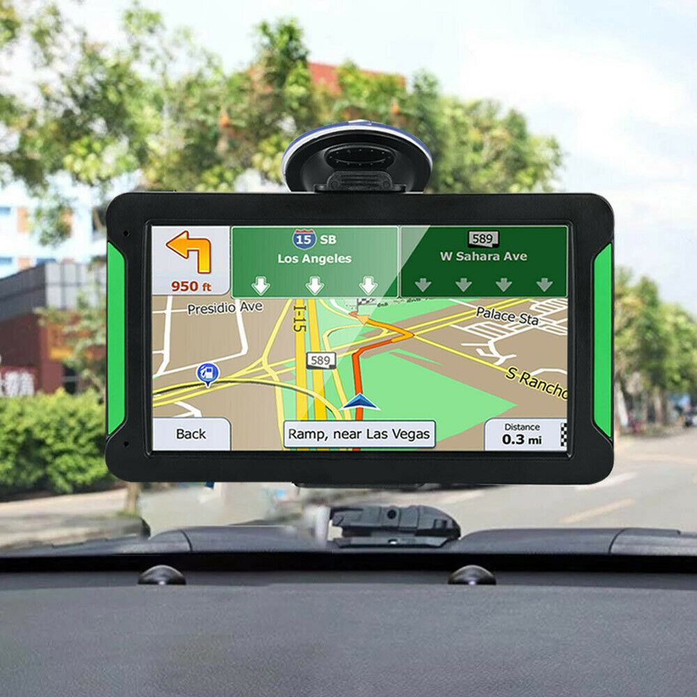 Pantalla táctil de 7 pulgadas, dispositivo de navegación GPS, mapas de coches, camiones, Auto Europa, mapa 256MB + 8 GB, transmisión de voz en tiempo Real, altavoz Hi-Fi