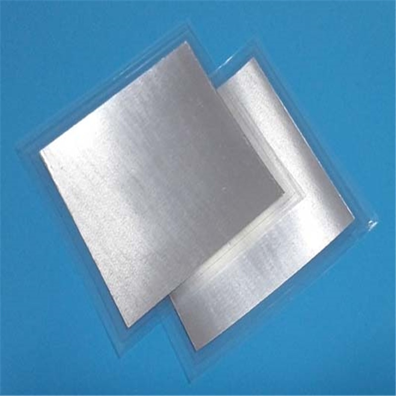 Free Shipping High Purity Indium Sheet Pure Foil 50mm*50mm*0.1mm Laser Heat-dissipating Coating Sealing Research Material