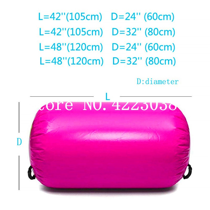 Envío Gratis, rollo de aire inflable de 120cm de longitud para entrenamiento de gimnasia, barril de aire de pista de aire para gimnasio, rodillo de caída de aire inflable