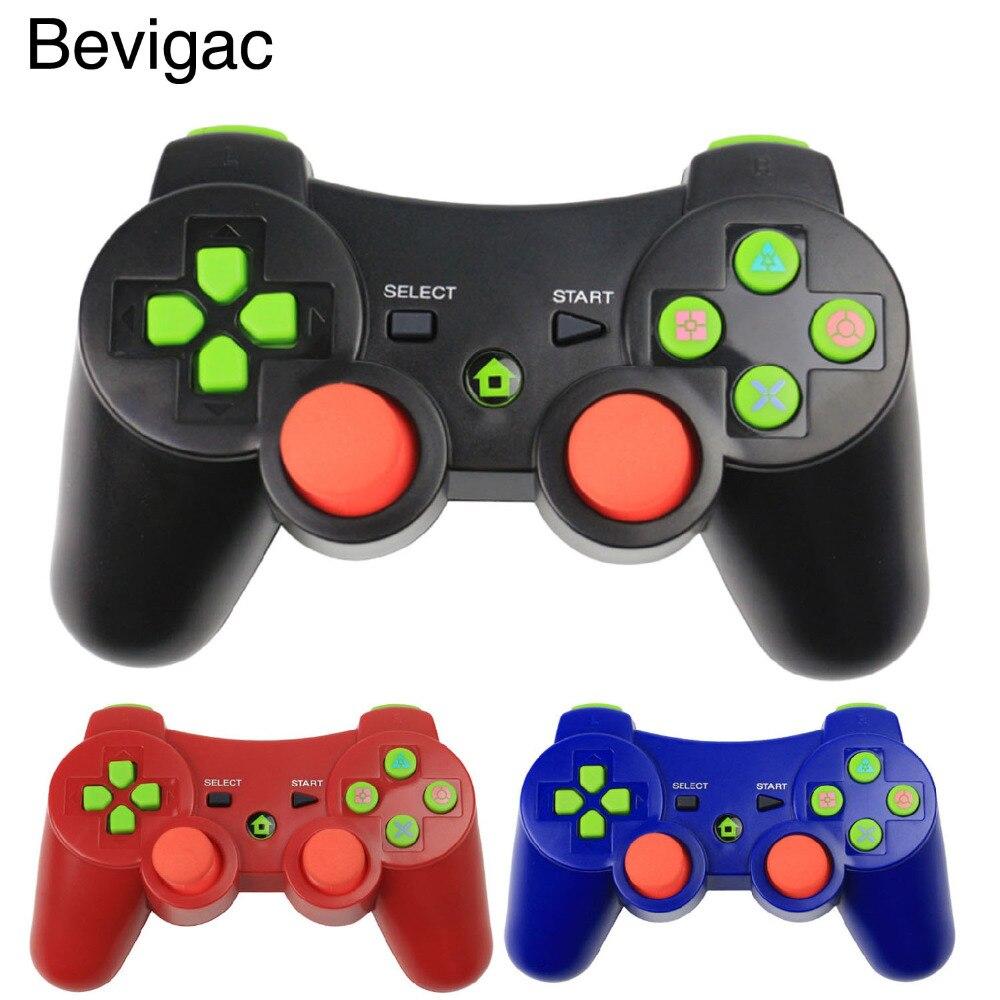 Bevigac inalámbrica Bluetooth doble Shock vibración controlador Joystick Gamepad para Sony PS 3 Playstation PS3 accesorios de juego