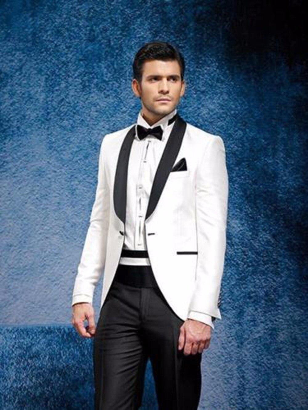Trajes de hombre de esmoquin personalizado novio boda cena traje Formal de negocios Prom Wear C28