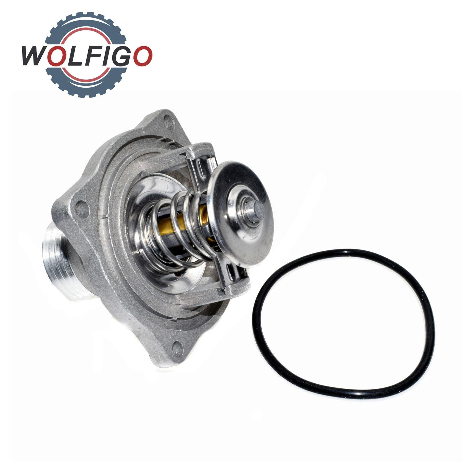 WOLFIGO Motor Kühlmittel Thermostat Montage Für BMW E39 E38 535i 540i 735i 735iL 740i 740iL M62 4.0L V8 11531437526 11531704324