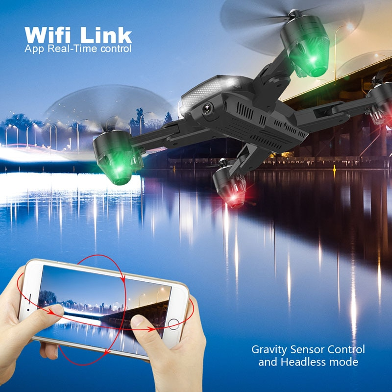 Foldable Cheap RC Helicopters with LED Light RC Drone HD WiFi FPV  Altitude Hold Mode rc  Quadcopter toys for birthday enlarge