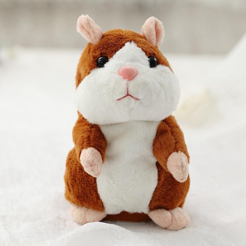 Linda Hamster Falar Falar Falar Sound Record Hamster Repita Animal De Pelúcia Recheado Educacional Toy Crianças Presente de Natal 15 centímetros