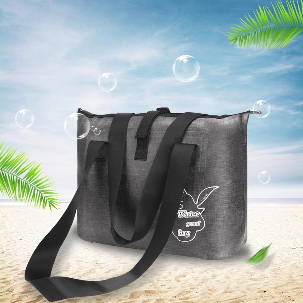 Bolsas de natación impermeables al aire libre bolsa de almacenamiento de saco seco portátil Bolso grande de hombro ligero para gimnasio viaje playa natación