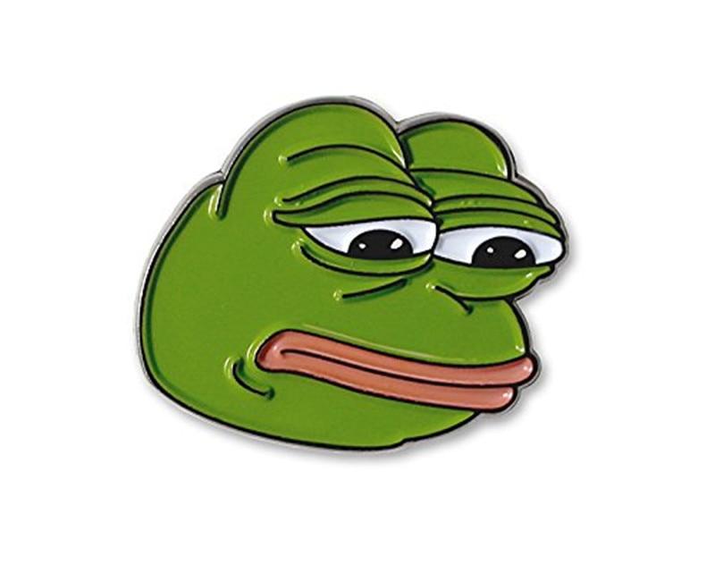 Sad Pepe Frog Lapel Pin