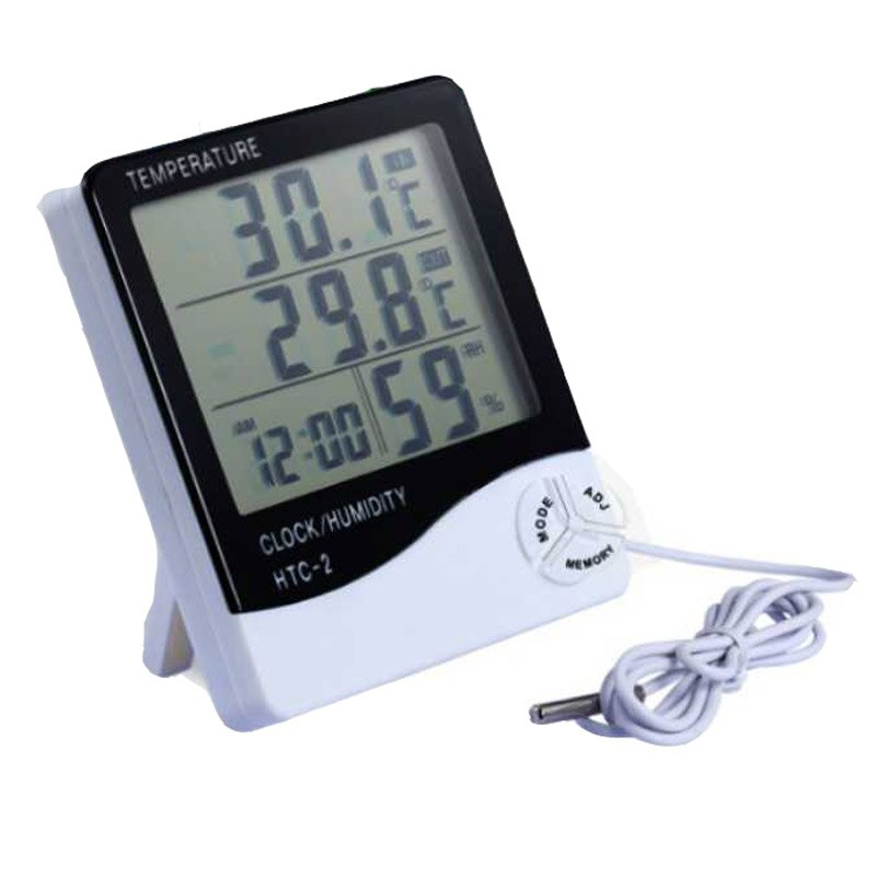 LCD Digital thermometer Temperature Humidity Meter -1 -2 Indoor Outdoor hygrometer thermometer probe