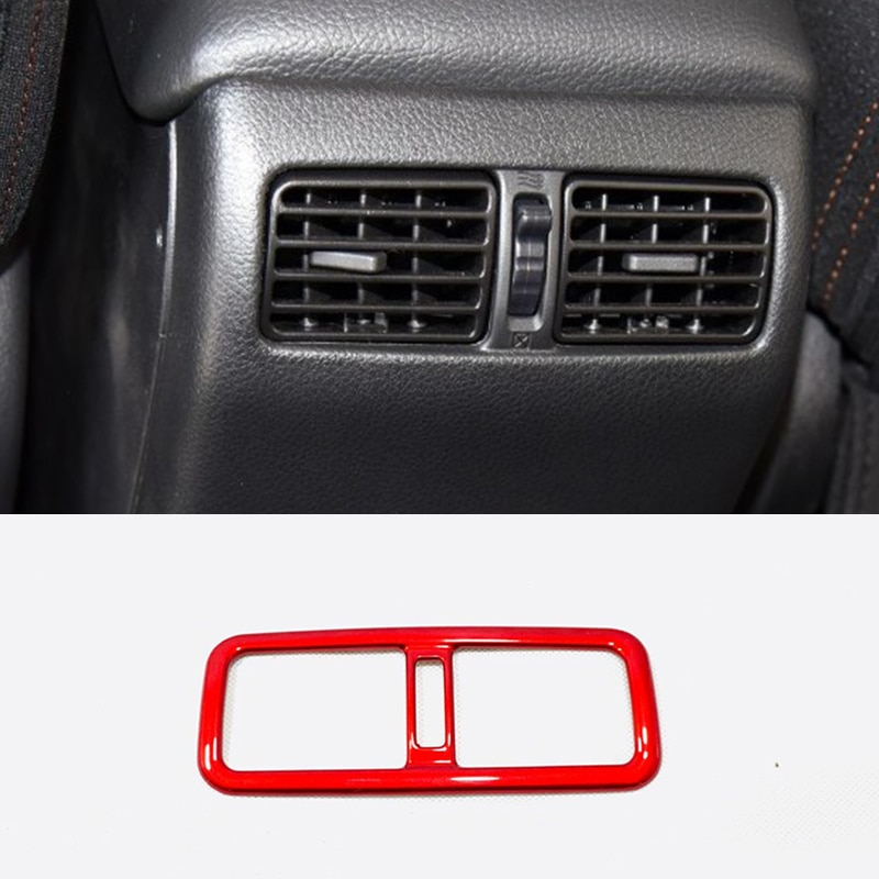 ABS estilo rojo para Nissan x-trail T31 2008-2013 accesorios apoyabrazos trasero del coche aire acondicionado cubierta de salida de ventilación AC Trim