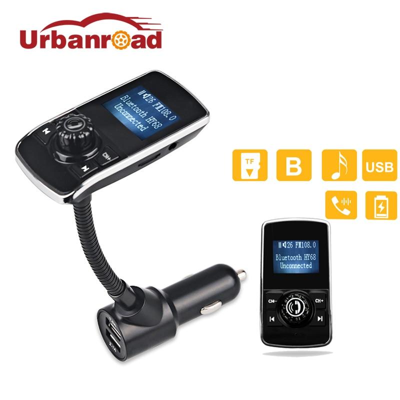 Urbanroad Mp3 плеер беспроводной Fm передатчик модулятор Aux USB Автомобильное зарядное устройство Handsfree Bluetooth Fm радио передатчик автомобильный комп...