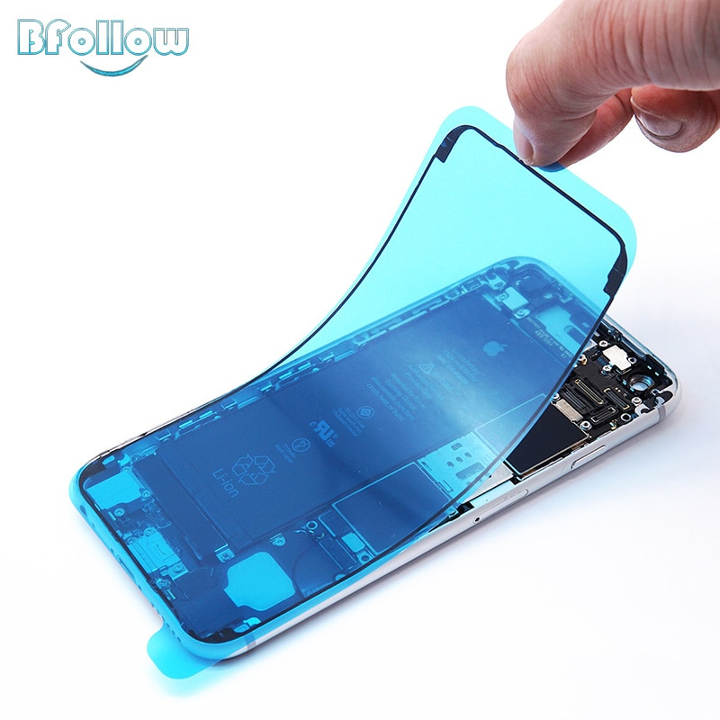 BFOLLOW Оригинальное водонепроницаемое уплотнение для iPhone 6S 7 8 Plus/X XS XR XS Max Двусторонняя рамка стикер ремонт телефона Корпус ЖК