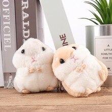 ¡Novedad! Llavero de peluche suave Kawaii para bebés, animales de peluche gris/caqui, pequeño hámster, juguete de muñeco de peluche, ratón de peluche