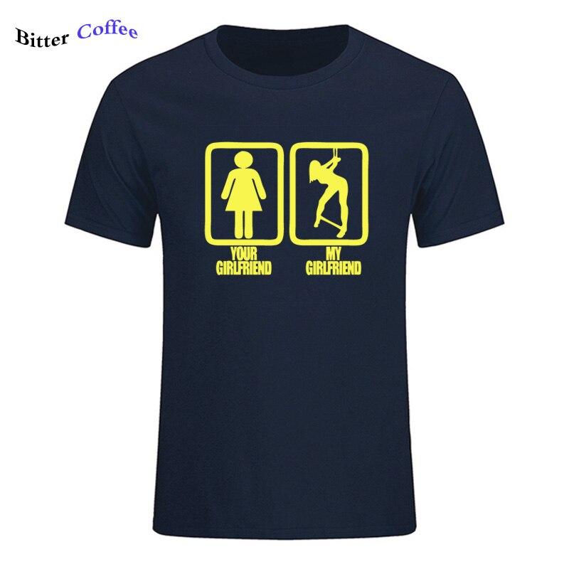 2019 남자 티셔츠 여자 친구 내 여자 친구 속박 T 셔츠 남성용 짧은 탑 코튼 패션 티 셔츠 플러스 사이즈