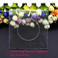 4 pz/set 2.6 millimetri Tallone Piazza Pegboard perline Hama Puzzle Di 14.5x14.5cm Modello per 2.6 millimetri Perler Perline giocattoli