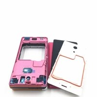 RTBESTOYZ Middle Frame Bracket Panel Front Frame Bezel Panel Housing For Sony Xperia ZR M36H C5502 C5503 Black White Pink