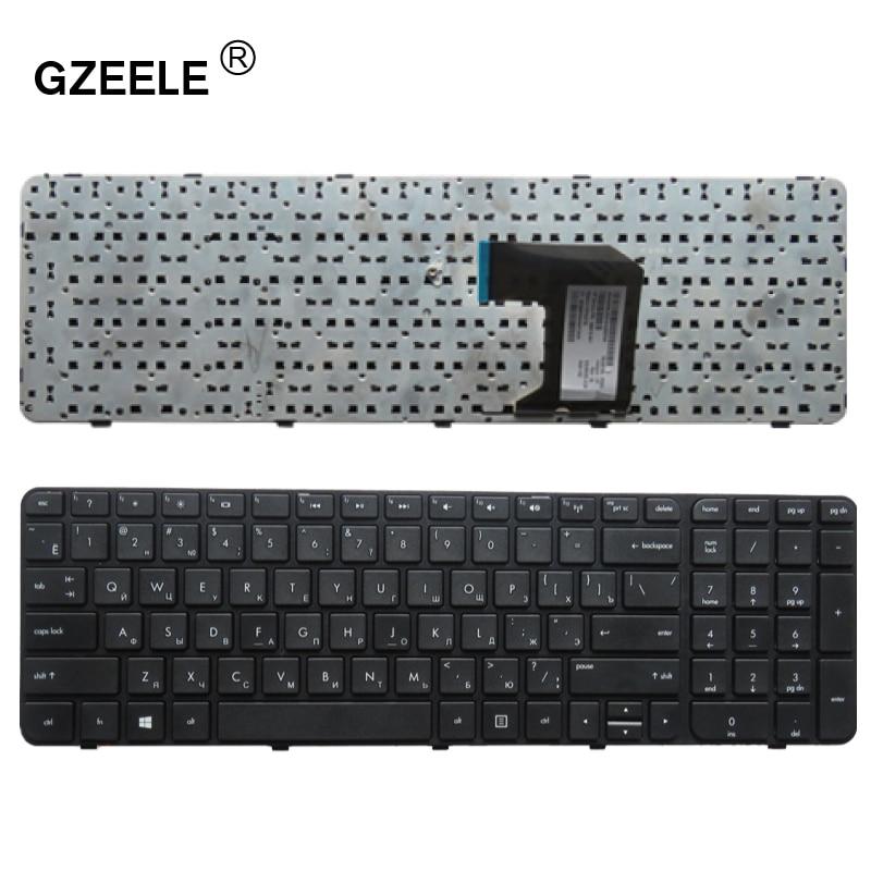 GZEELE Russische Tastatur für HP Pavilion G7-2250 G7-2251 G7-2269 G7-2279 G7-2289 G7-2291 RU tastatur Mit Rahmen neue schwarz