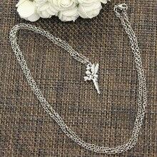 New Fashion Pendant Angel Fairy Tinkerbell Choker Charm Short Long DIY Necklace Factory Price Handmade Jewelry