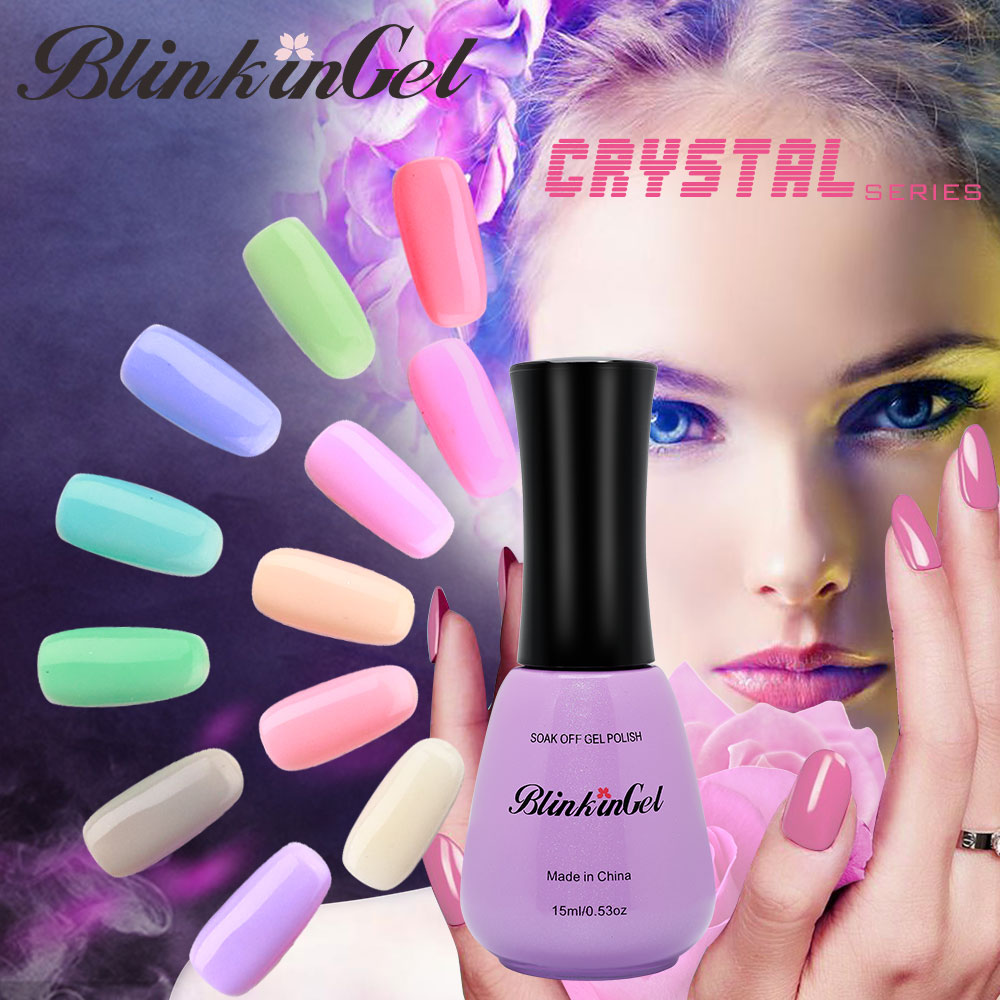BlinkinGel 1 Uds azúcar ur Gel polaco Set Gel barniz uña esmalte de uñas despegable en resina cristal Gel uña Color Multi 15ml