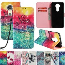 Housse de téléphone portefeuille en cuir à motif 3D pour Motorola G5S G6 Plus E4 E5 Z2 Play G5 porte-cartes pochette Capa pour Moto C