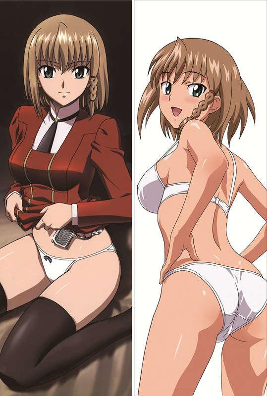 وكيل أيكا r-16 شخصيات أنيم مثير فتاة sumeragi أيكا رمي وسادة غطاء المخدة الجسم