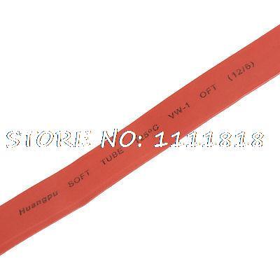 12mm Dia Ratio 21 tubo retráctil de calor 1,5 M rojo