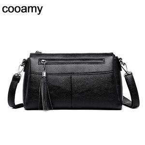 Tassel Women Shoulder Bags PU Leather Solid Letter Thread Women Flaps Women Messenger Bags Simple Design Fashion Crossbody Bag
