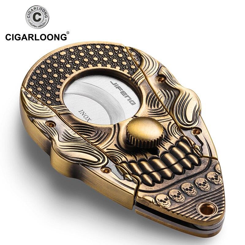 Mini portátil de Bolso crânio frete grátis CC-1904 Inoxidável cortador de charutos