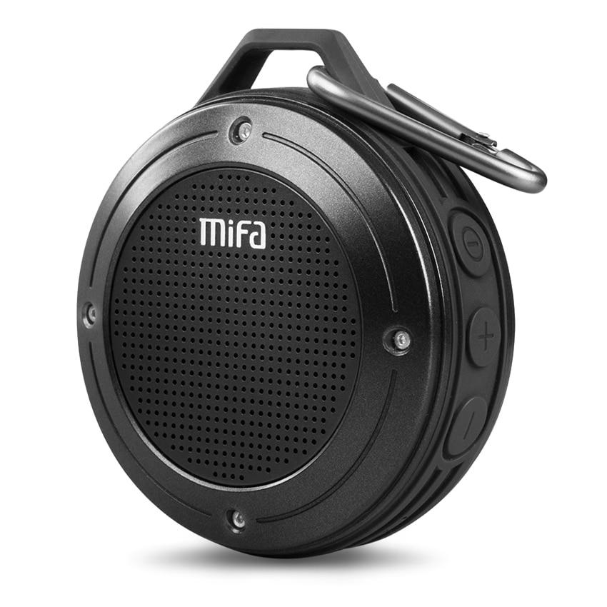 MIFA F10-مكبر صوت استريو محمول ، لاسلكي ، بلوتوث ، مقاوم للصدمات ، ميكروفون مدمج ، IPX6 ، مكبر صوت مقاوم للماء ، مع باس