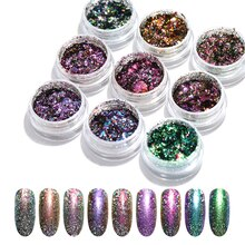 Nail Powder Glitter Laser Chameleon Shiny Sequins Nail Art Decoration  DIY Supplies