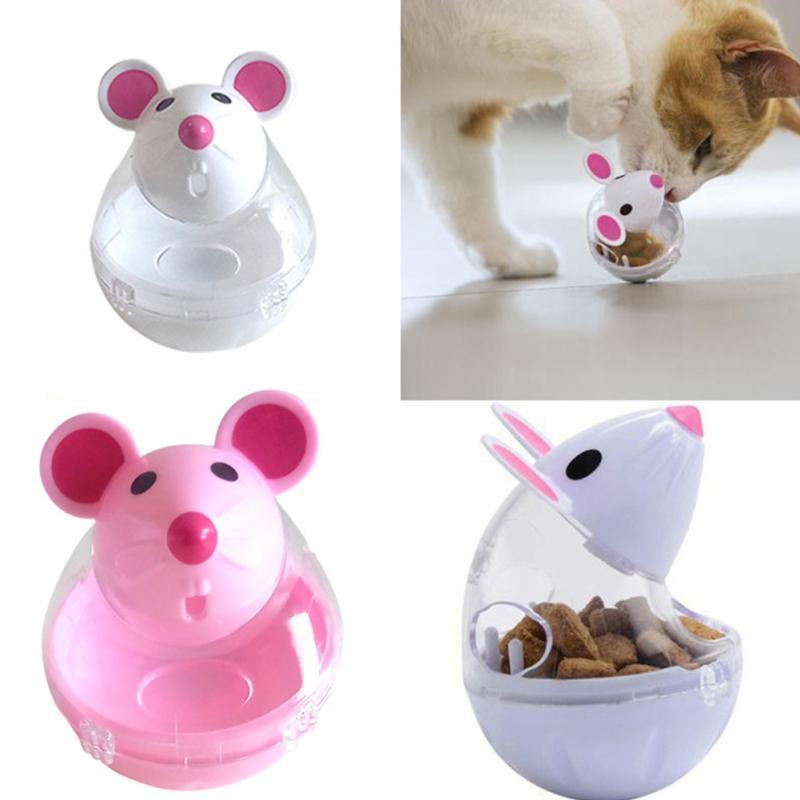 Nuevo alimentador divertido de Gato, juguete con fugas para ratones, bolas para comida, juguetes educativos para mascotas, dispositivo de fuga de mascotas, divertido juguete interactivo para gatos