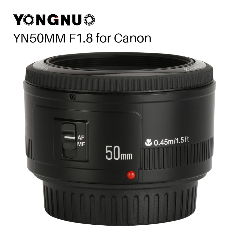 Lente de cámara YONGNUO YN50mm YN50 F1.8 EF 50mm para Canon, lentes de apertura para EOS DSLR 700D 750D 800D 5D Mark II IV 10D 1300D