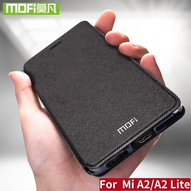 Mofi кожаный флип-чехол для Xiaomi Mi A2 Lite, чехол для Smart Week Sleep Shell, полная защита, Xiomi 128 ГБ, xaomi 64 ГБ, матовый чехол