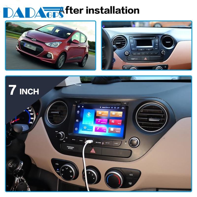Android 9.0 Car GPS Radio Multimedia Headunit For Hyundai I10 I-10 2013-2018 left and right hand DVD Player Stereo Headunit