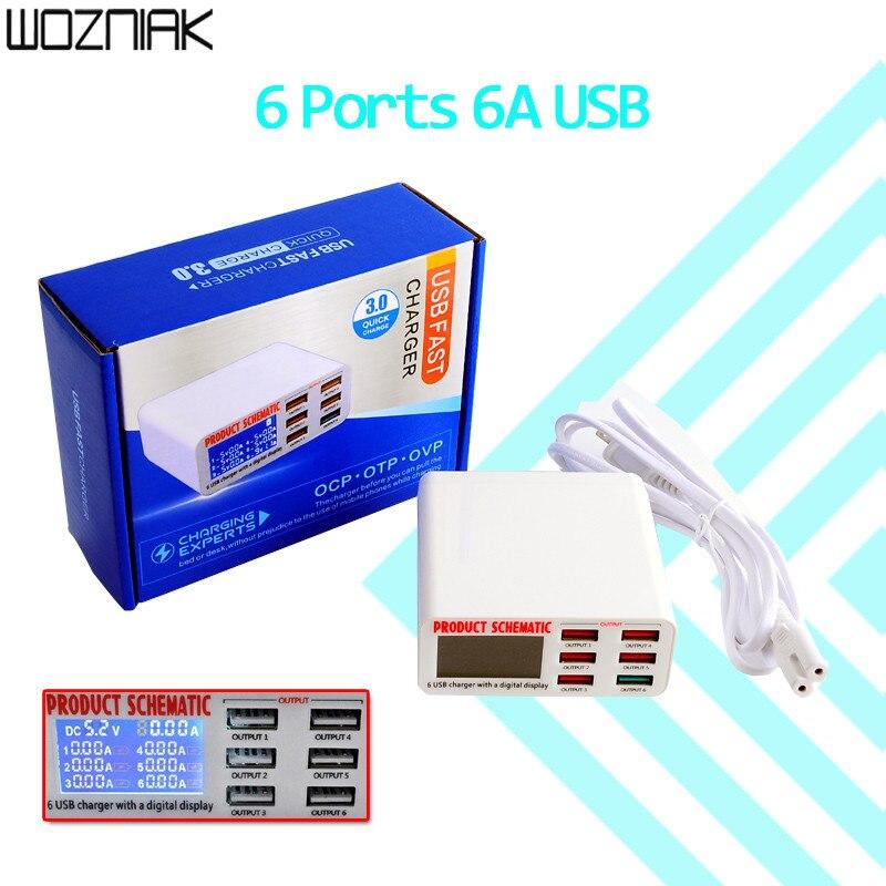 Universell kompatibel Desktop Telefon Ladegerät Adapter Hub Multi Port mit LCD Dispaly
